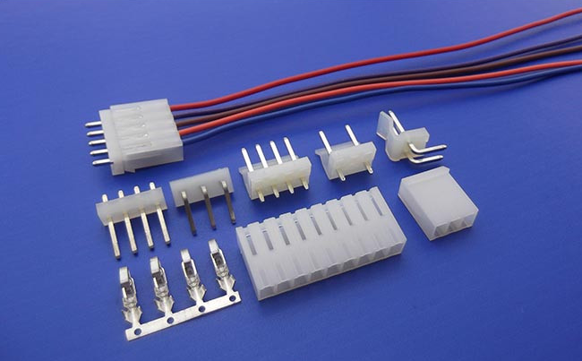 custom molex 2139 series KK 3.96mm connector wire harness with friction ramp housing.
