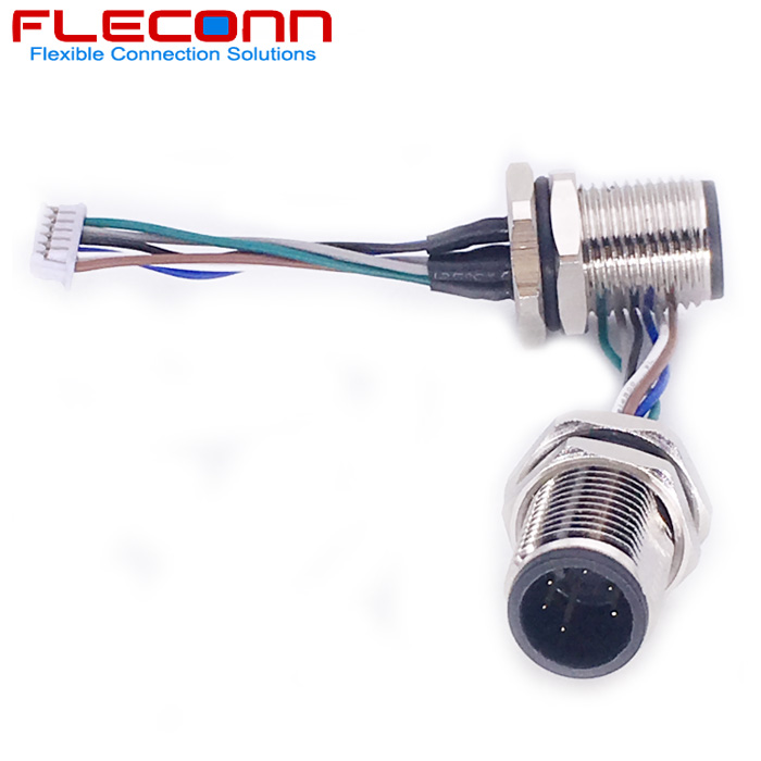 M12 6P Panel Mount Receptacle with Front Fastoned Metal Nut.jpg