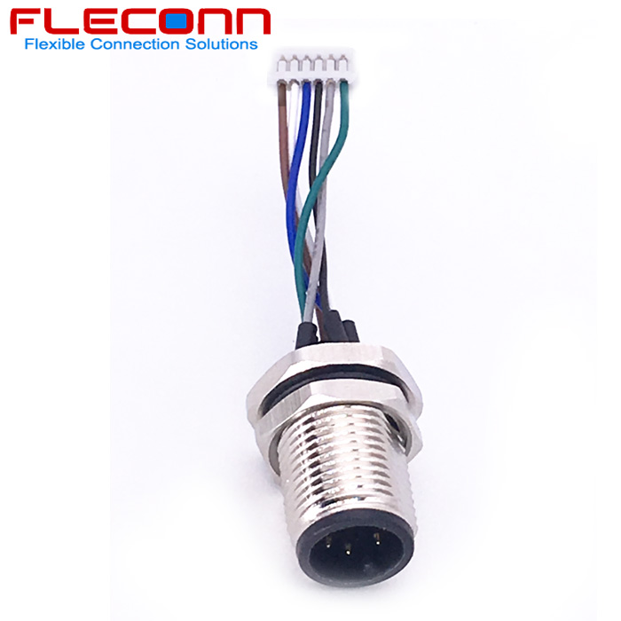 M12 6Pin Male Panel Mount Connector with Single Wires.jpg