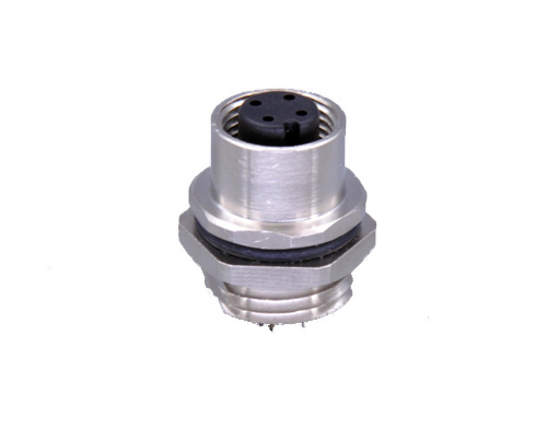 M12 4 Pin Female Connector, Front Panel Mount, Fix Thread PG9.jpg