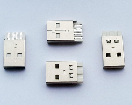 Usb A Male Connector with Short black or white Housing