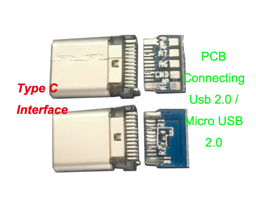 Type C to Usb 2.0/ Micro Usb 2.0 Connector Adapter