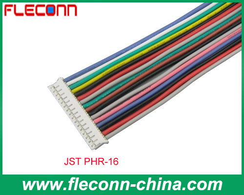 JST PHR-16 2.0mm Pitch Wire to Board Connector and Cable Assembly