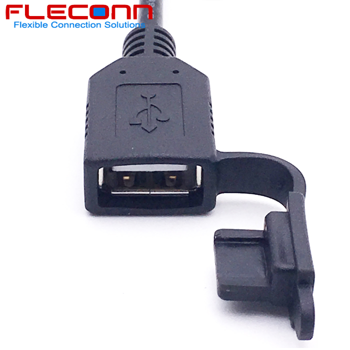 USB 2.0 AF A Female Cable with Dustproof Cap Dust Proof Cover