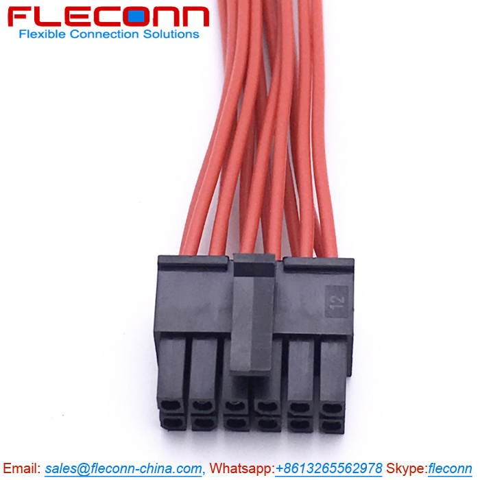 Molex Micro-Fit 3.0 43025-1200 12 Pin Connector Wire Harness