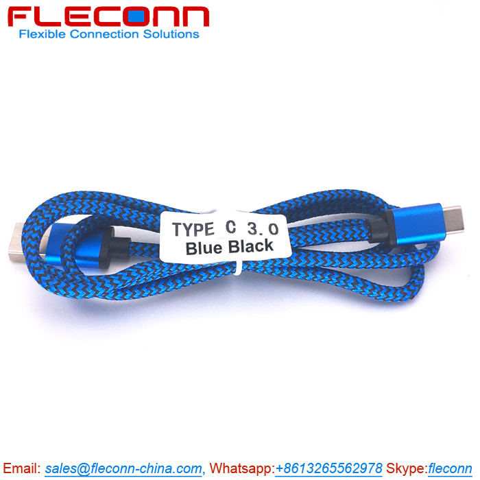 Type-C USB Cable, Blue Type C Charger Cable Supplier for Germany