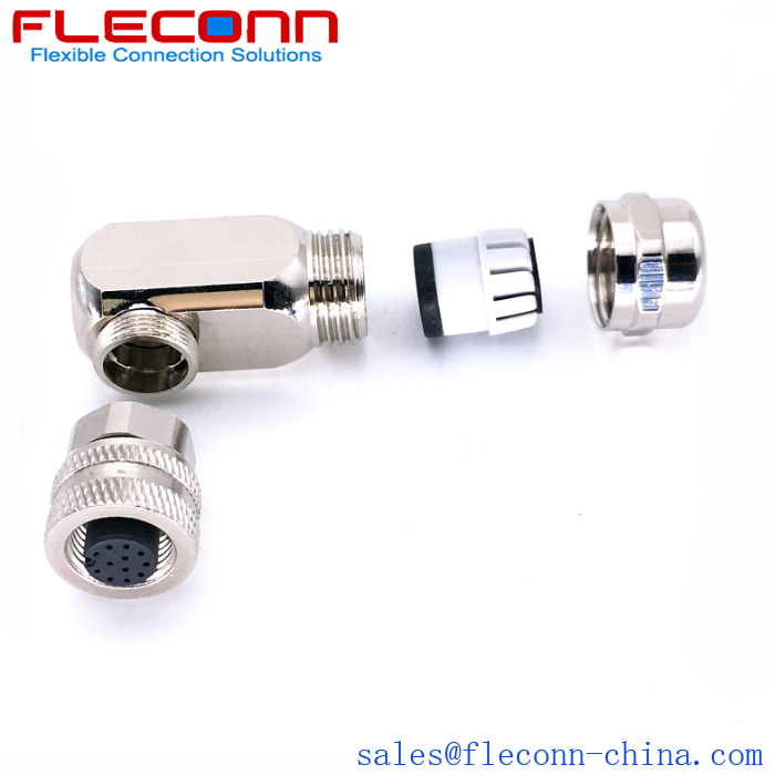 M12 Right Angle Field Wireable Connector