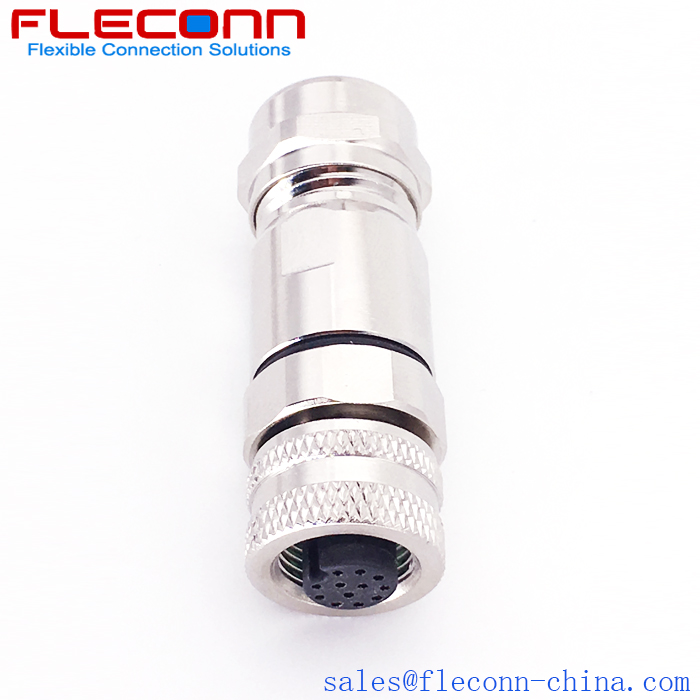 M12 12 PIN Shielded Connector