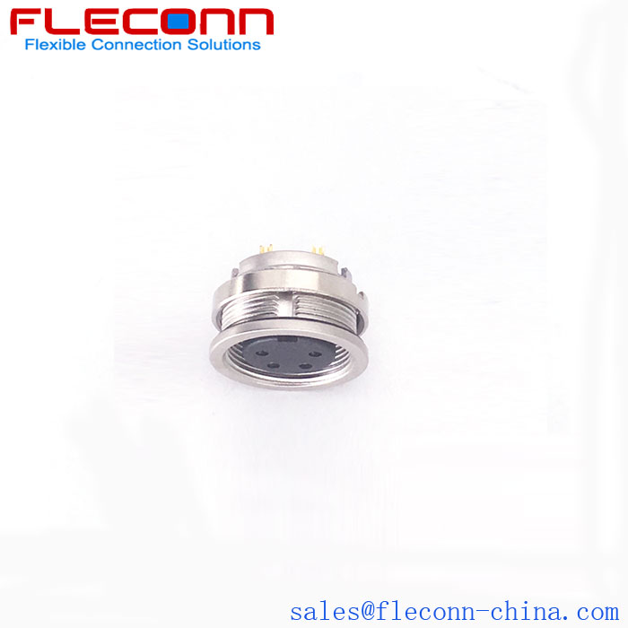 M16 Female Panel Mount Connector