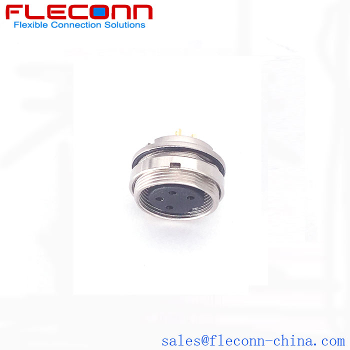 M16 4 Pos Round Panel Mount Connector